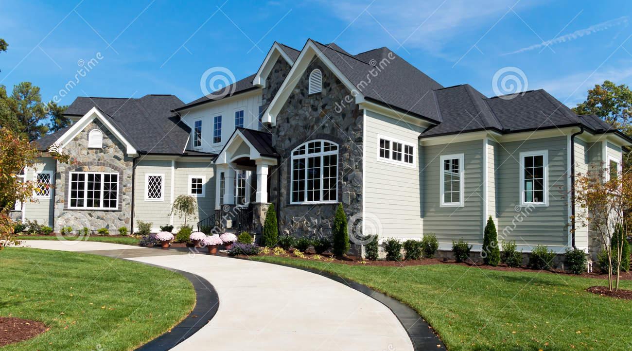 large suburban house driveway 34231578 oak ridge utility